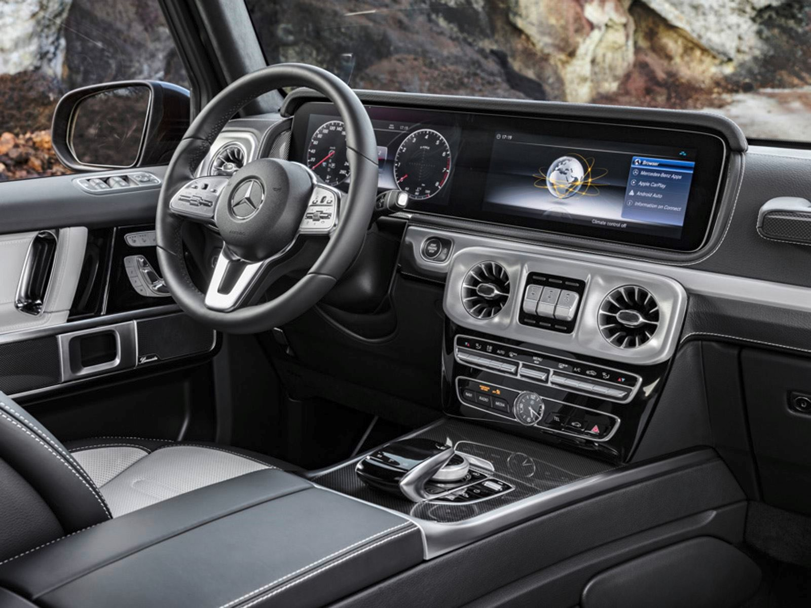 Inside Mercedes Jeep Car