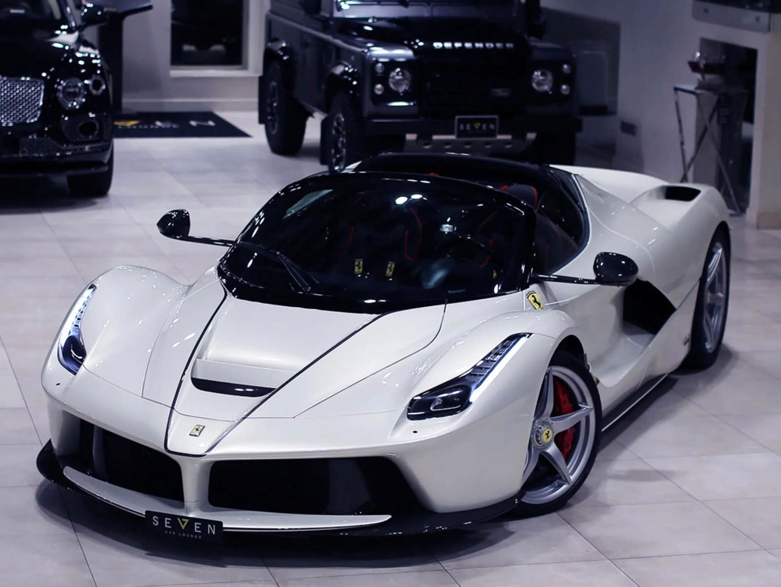 This Stunning White Laferrari Aperta Has Only Driven 60 Miles Carbuzz