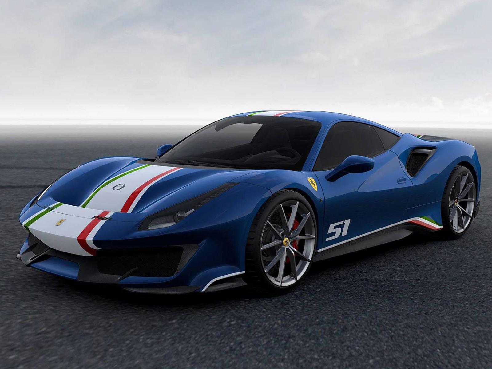 ferrari 488 pista piloti looks even better in blue