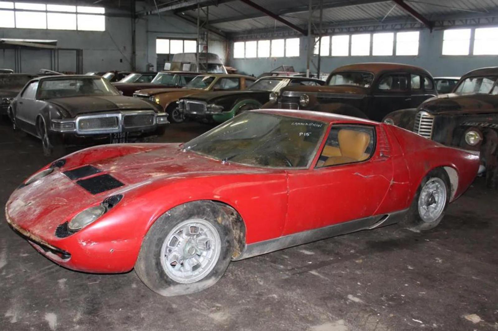 Incredible 81 Car Barn Find Includes This Dusty Lamborghini Miura