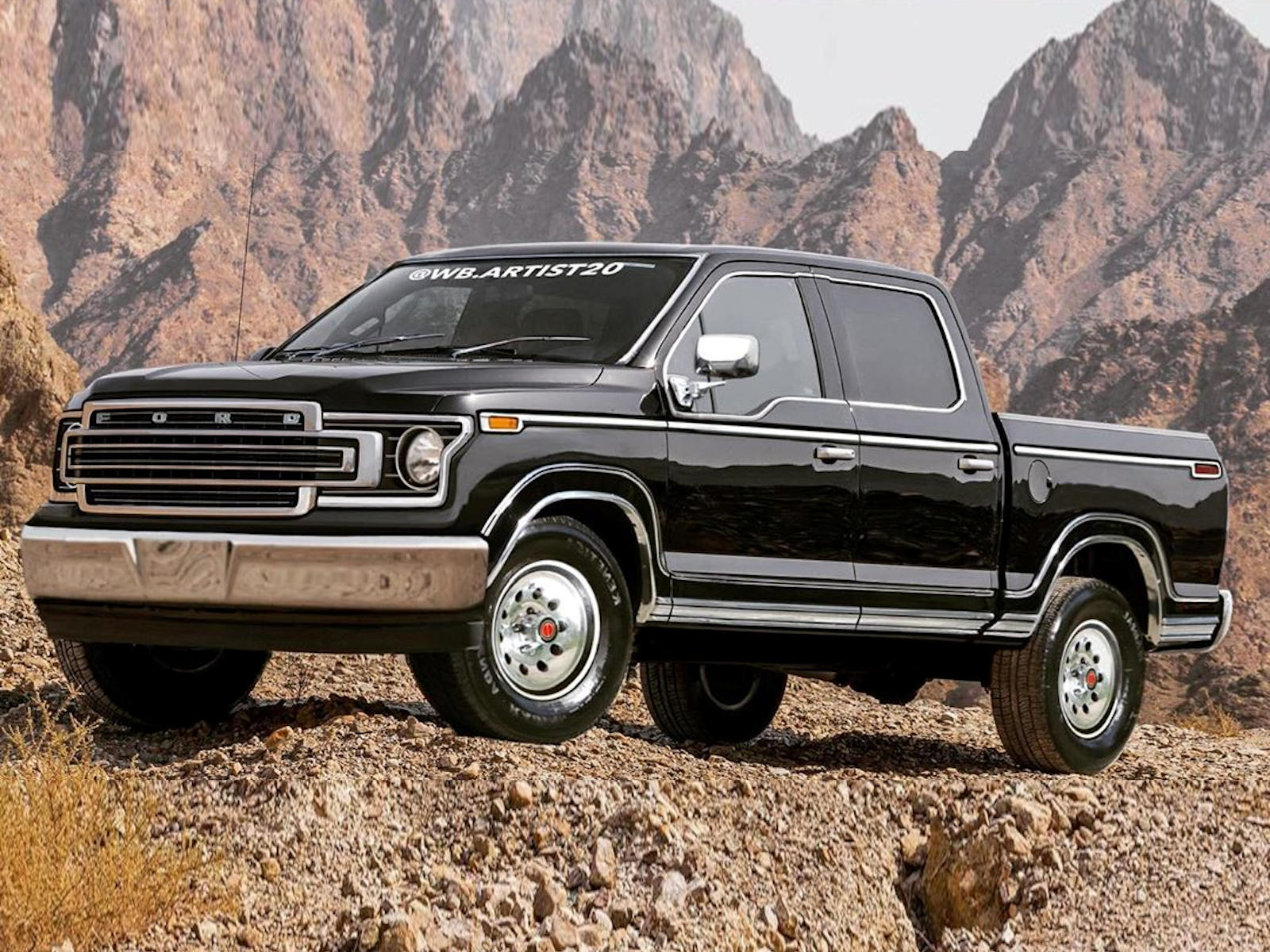 150 retro ford styling artist redesign gen reinvented carbuzz imagines wb f150online