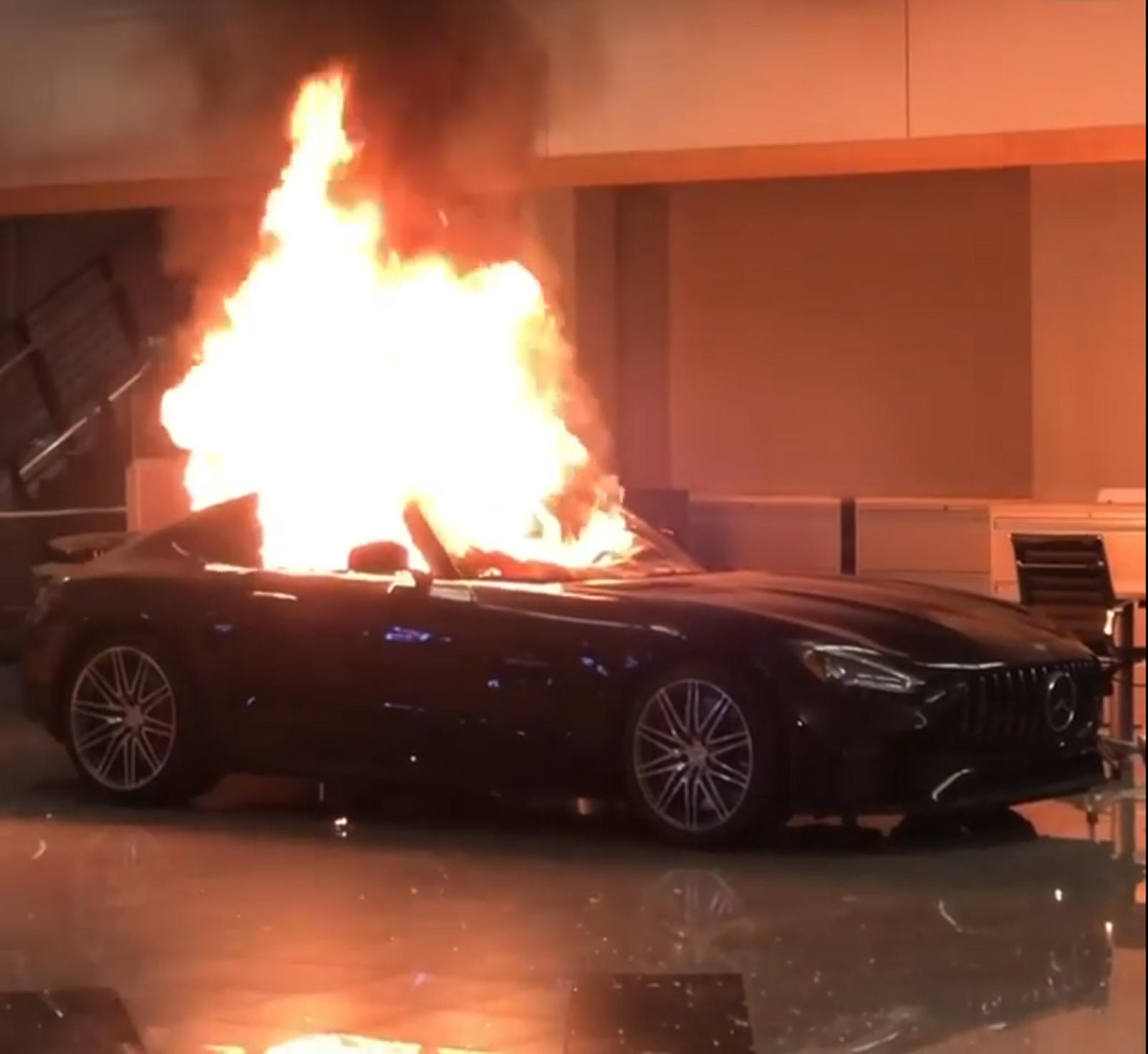Rioters Set Mercedes-AMG GT On Fire, Steal Dodge