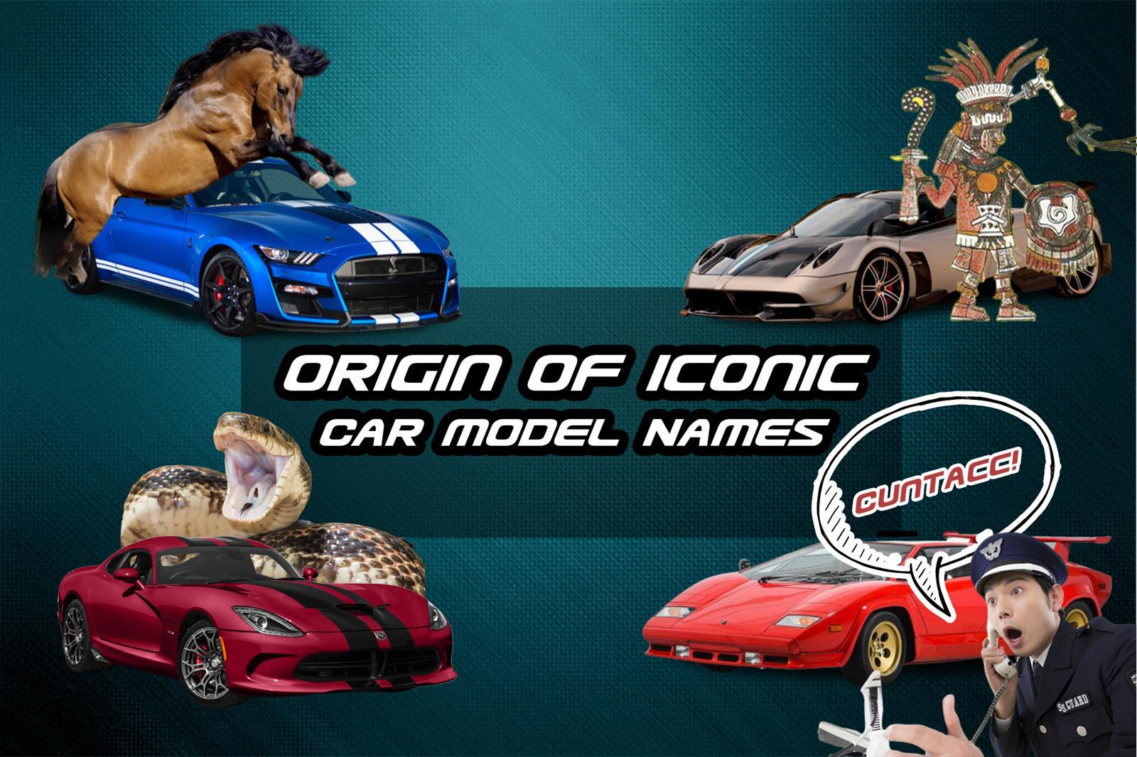 Origin Of 10 Iconic Car Model Names