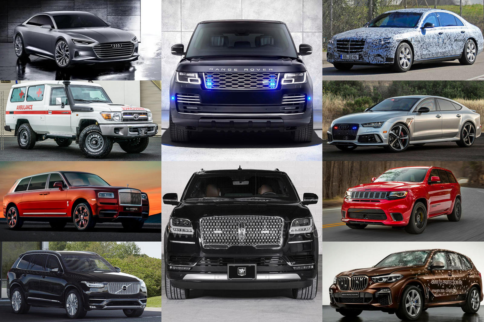 10 Armored Cars For VIPs
