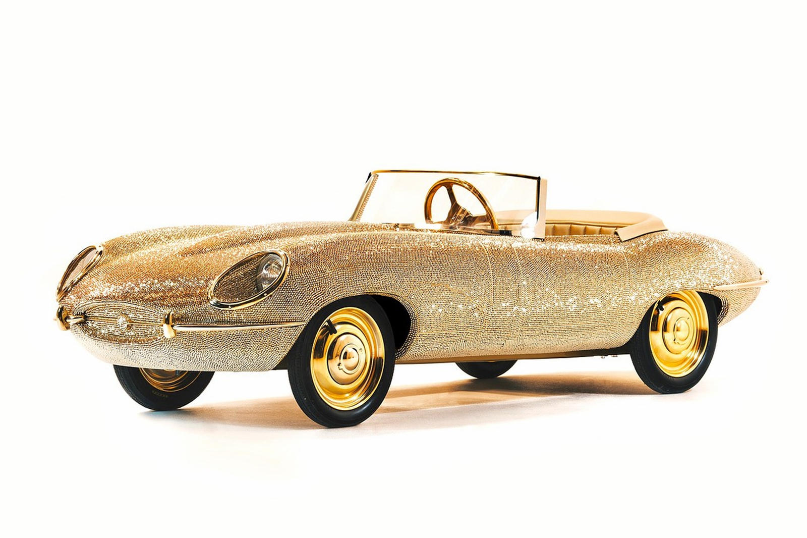 This Exquisite Jaguar E-Type Toy Car Has Over 100,000 Crystals
