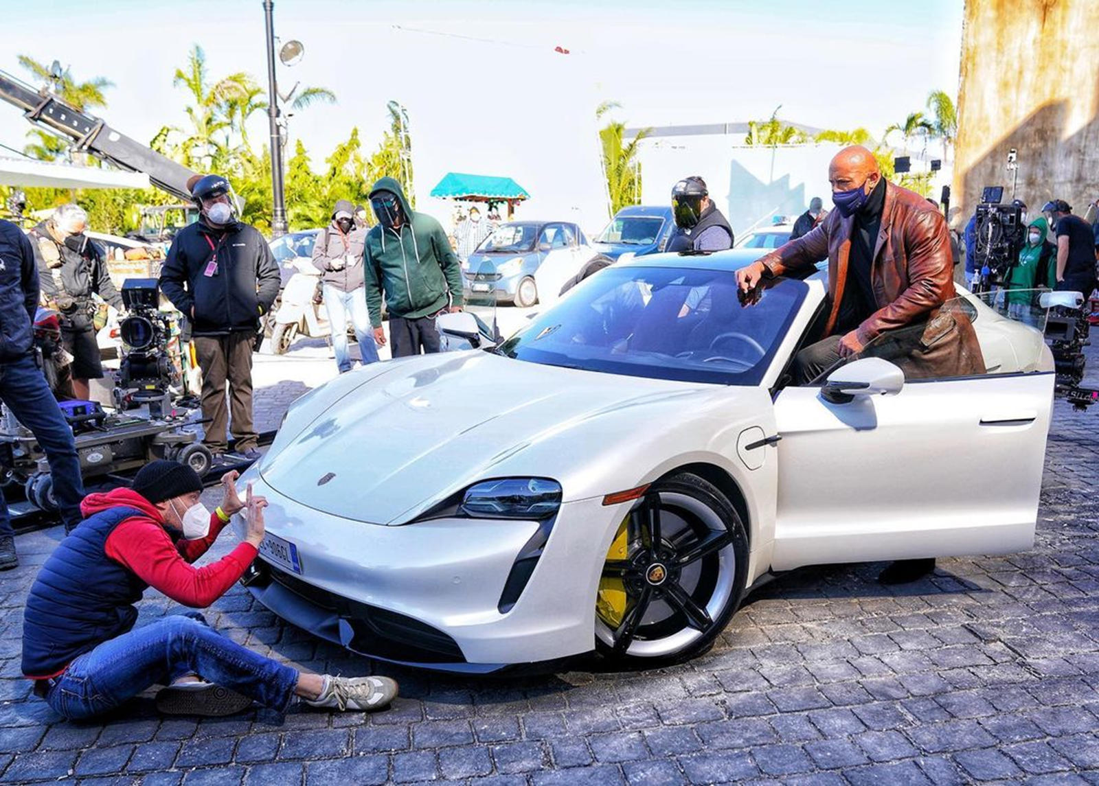 photo of The Rock Is Too Big For The Porsche Taycan image