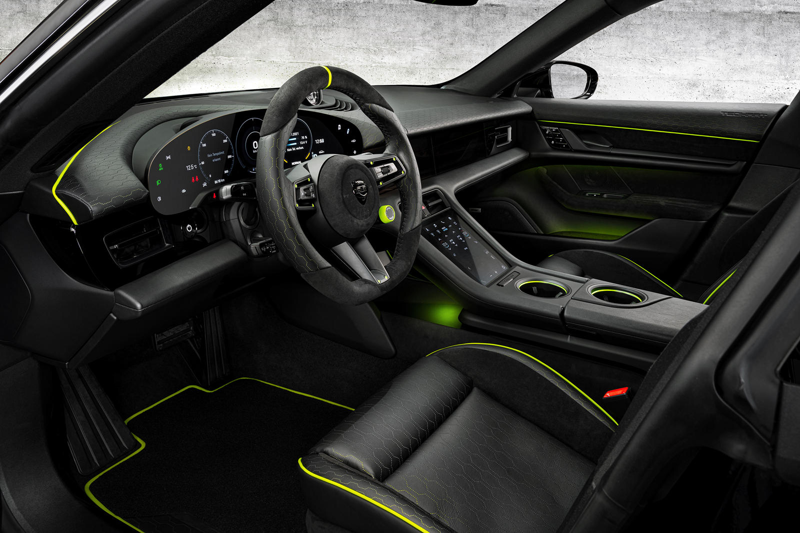 TechArt Goes Green On Porsche Taycan's Interior