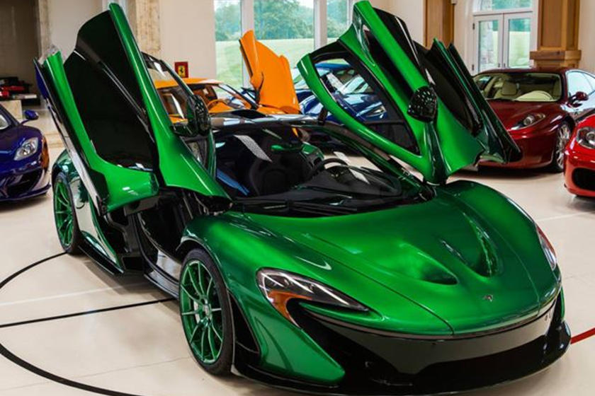 chrome green mclaren p1 with matching wheels is the bomb - carbuzz