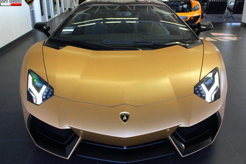 Brushed Gold Lamborghini Aventador Is A Snip At 400k Carbuzz