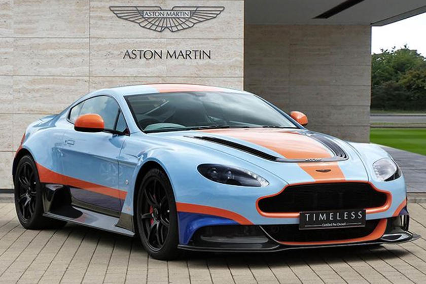 Want A 1 Of 5 Aston Martin Gt12 In Gulf Livery Prepare To Pay Carbuzz