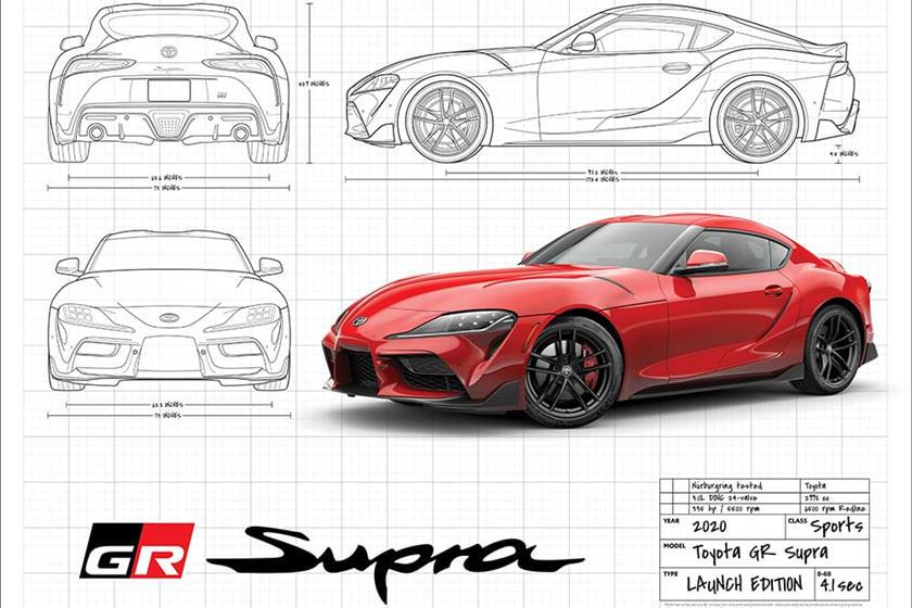 2020 Toyota Supra Blueprint