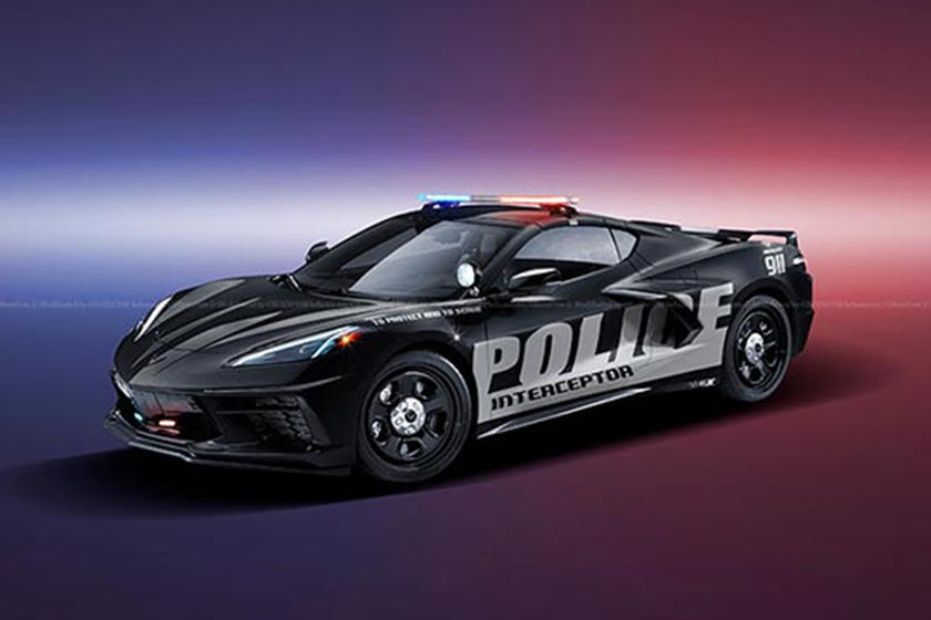 We'd Love To Get Pulled Over By This C8 Corvette Cop Car
