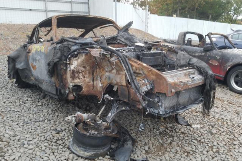photo of Fire Destroys A Once Beautiful Singer Restored Porsche 911 image