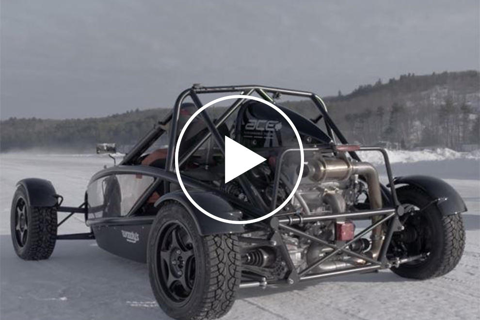 This Ariel Atom Vs  Snowmobile Drag Race On Ice Will Make You Miss