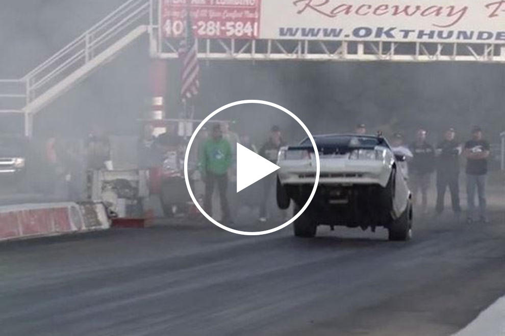 Watch This Fox Body Mustang Trip Over Itself And Wreck