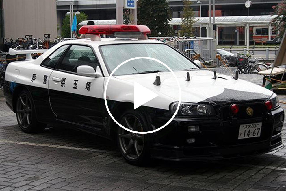 Japan's R34 GT-R Cop Car Has Just Been Caught Doing Real ...