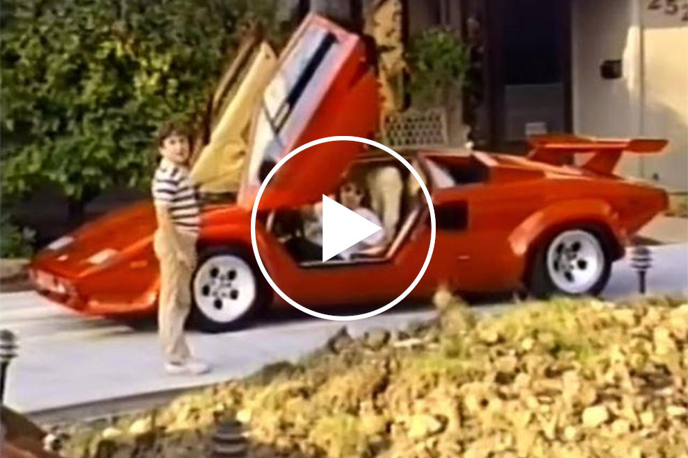 The Lamborghini Countach Is Difficult To Drive But This Guy S Mom