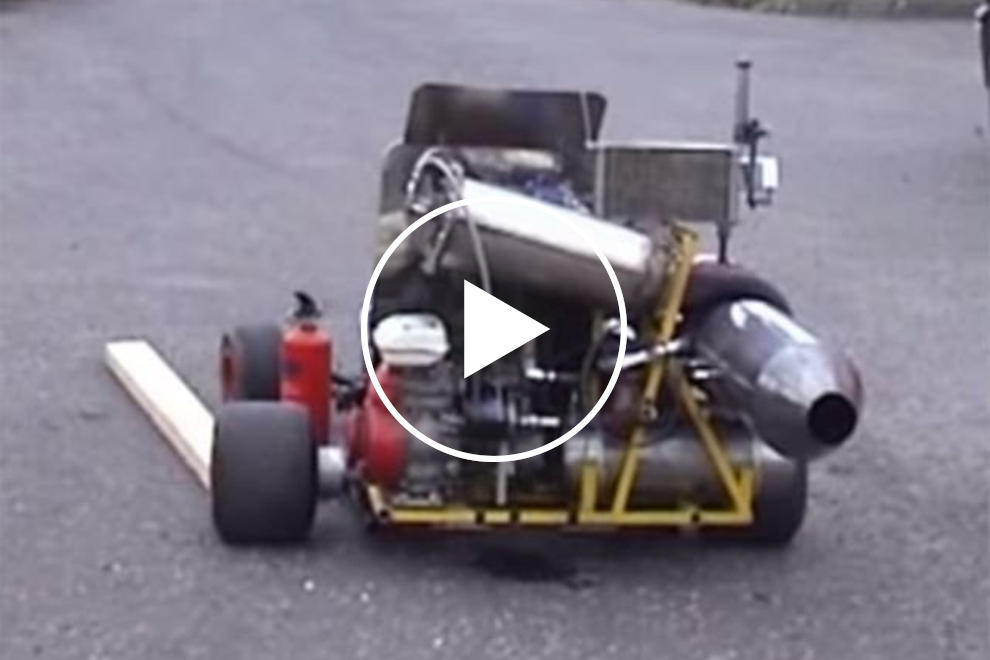 jet powered go kart hasn t yet exploded carbuzz carbuzz