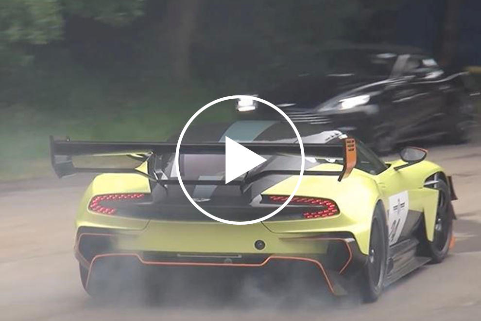 Watch The Aston Martin Vulcan Amr Pro Tear Up Its Tires At