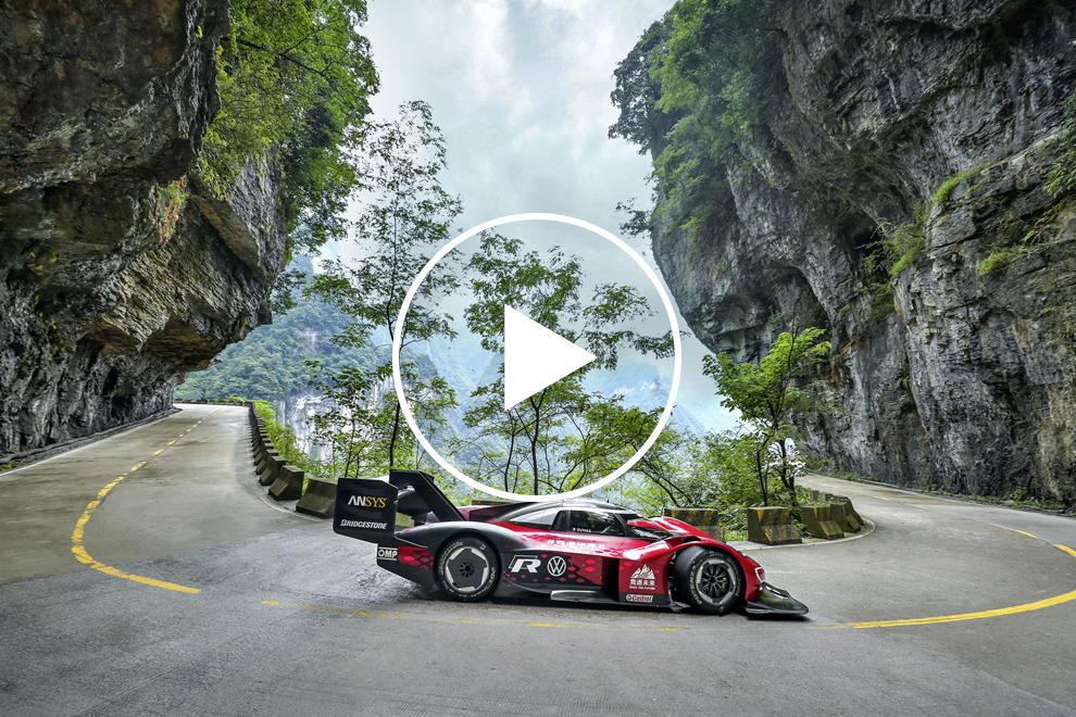 Watch 670-HP Volkswagen ID. R Race Around World's Toughest Road