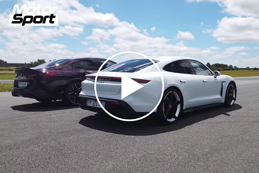 Drag Race: Porsche Taycan Vs. BMW M8 Gran Coupe