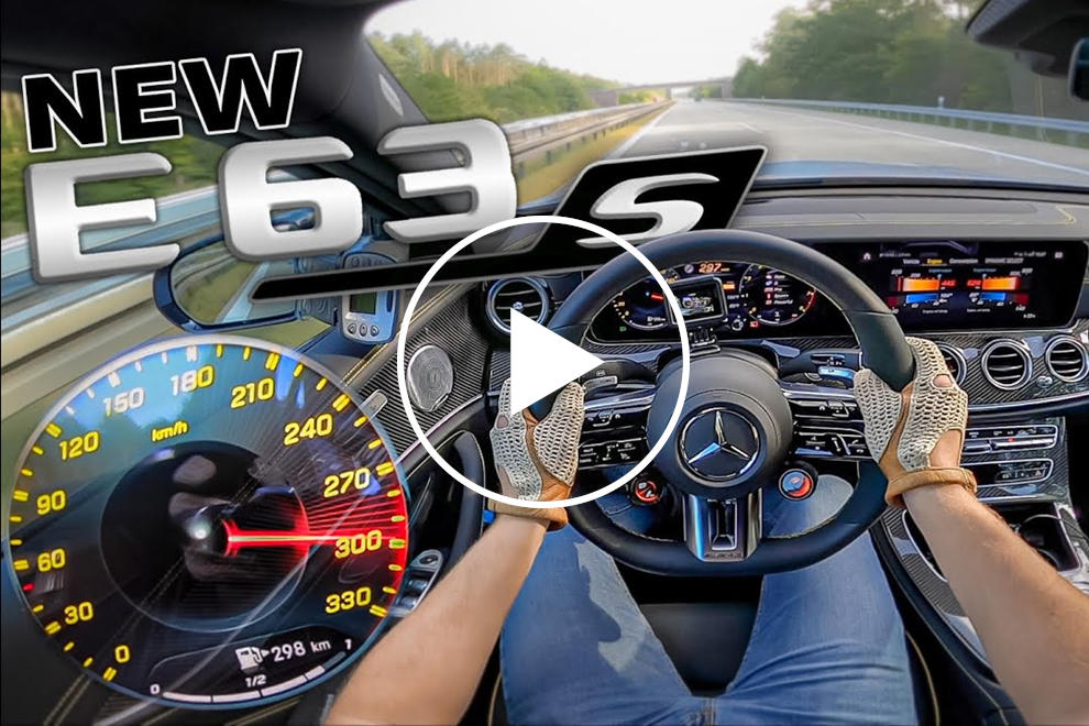 Watch The 2021 AMG E63 S Hit 186 MPH On German Autobahn
