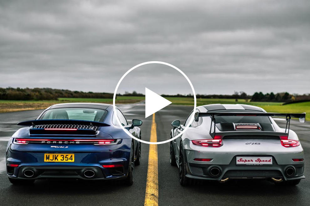 Porsche 911 Drag Race: 991 GT2 RS Vs. 992 Turbo S