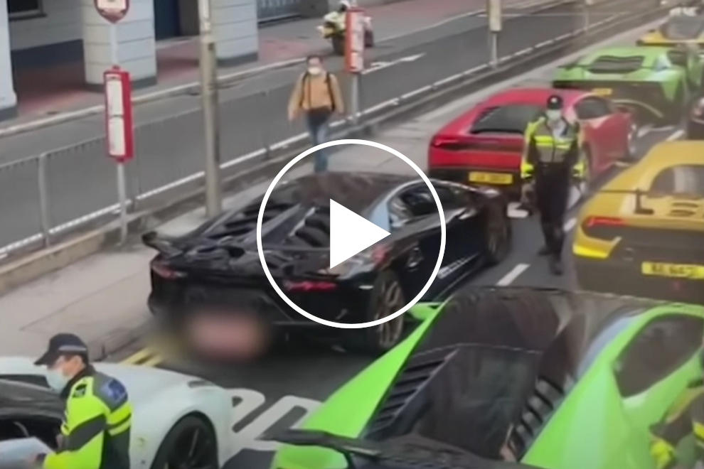Watch The Hong Kong Cops Pull Over 45 Supercars