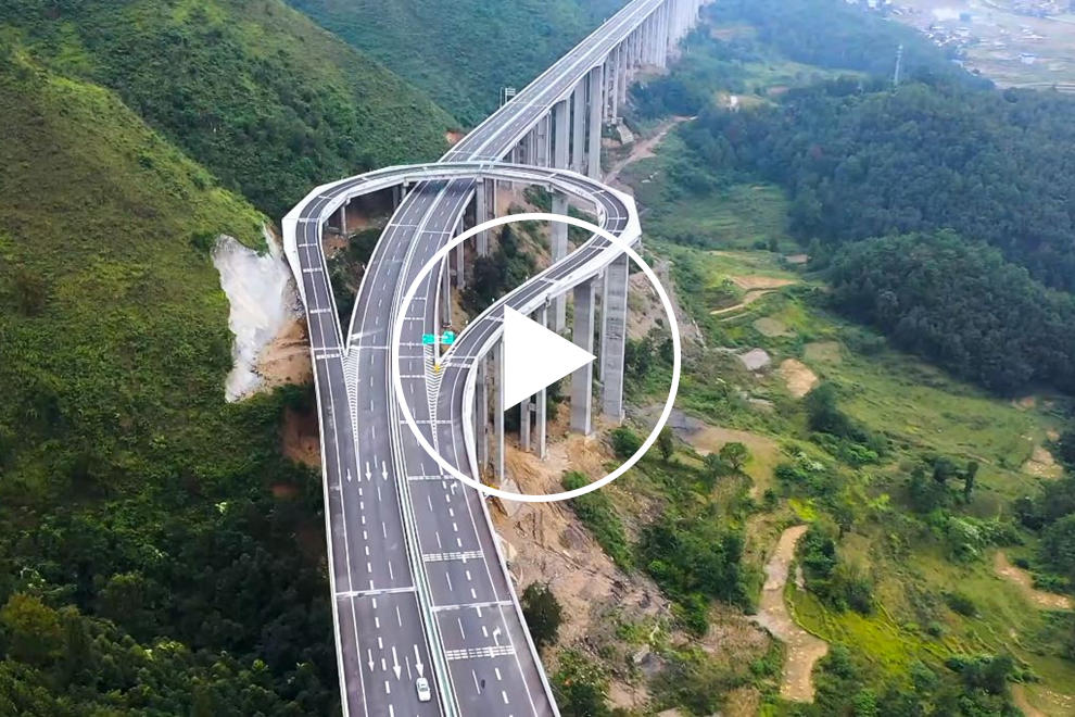Amazing Mountain Highway Has Giant U-Turn For Drivers Going The Wrong Way