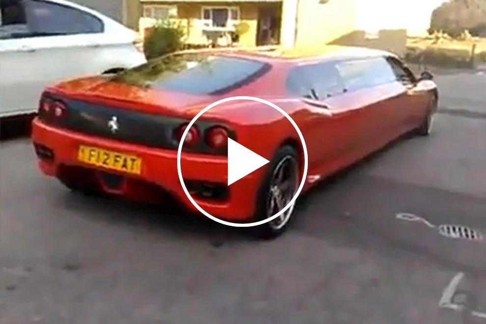 Video 166mph Ferrari Limousine F360 Sounds Just As Good As It Looks Carbuzz