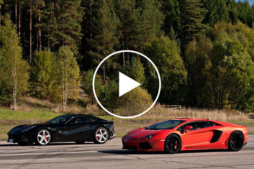 Finally Ferrari F12 Vs Lamborghini Aventador Carbuzz