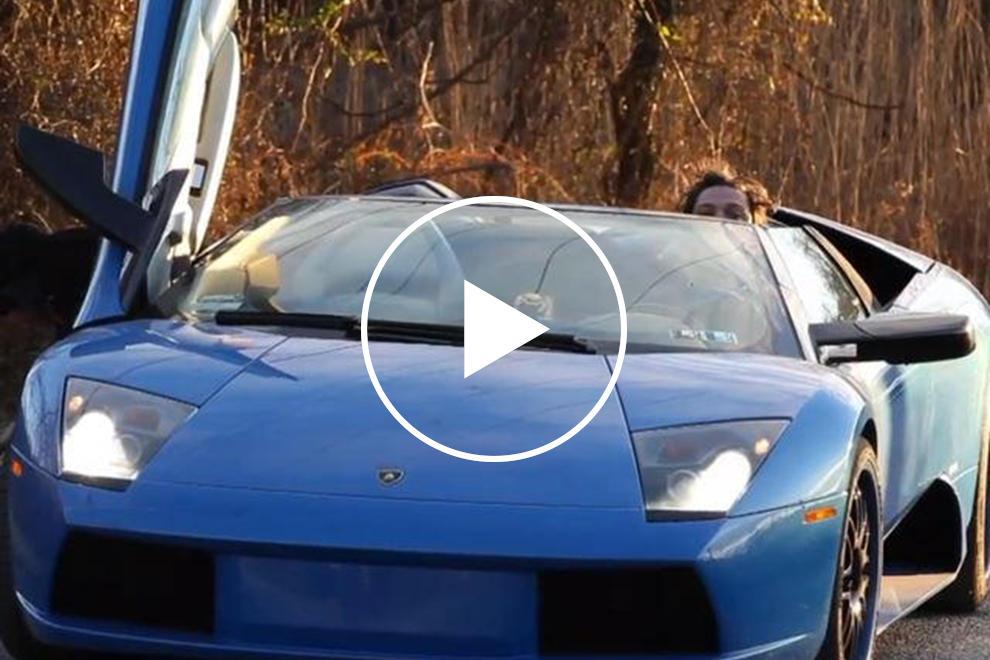 Bam Margera Crashes His Blue Lamborghini Murcielago Carbuzz
