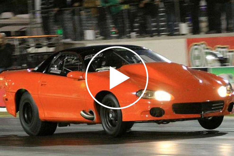 Six Second Chevy Camaro Is World S Fastest Quarter Mile Drag Radial Car Carbuzz
