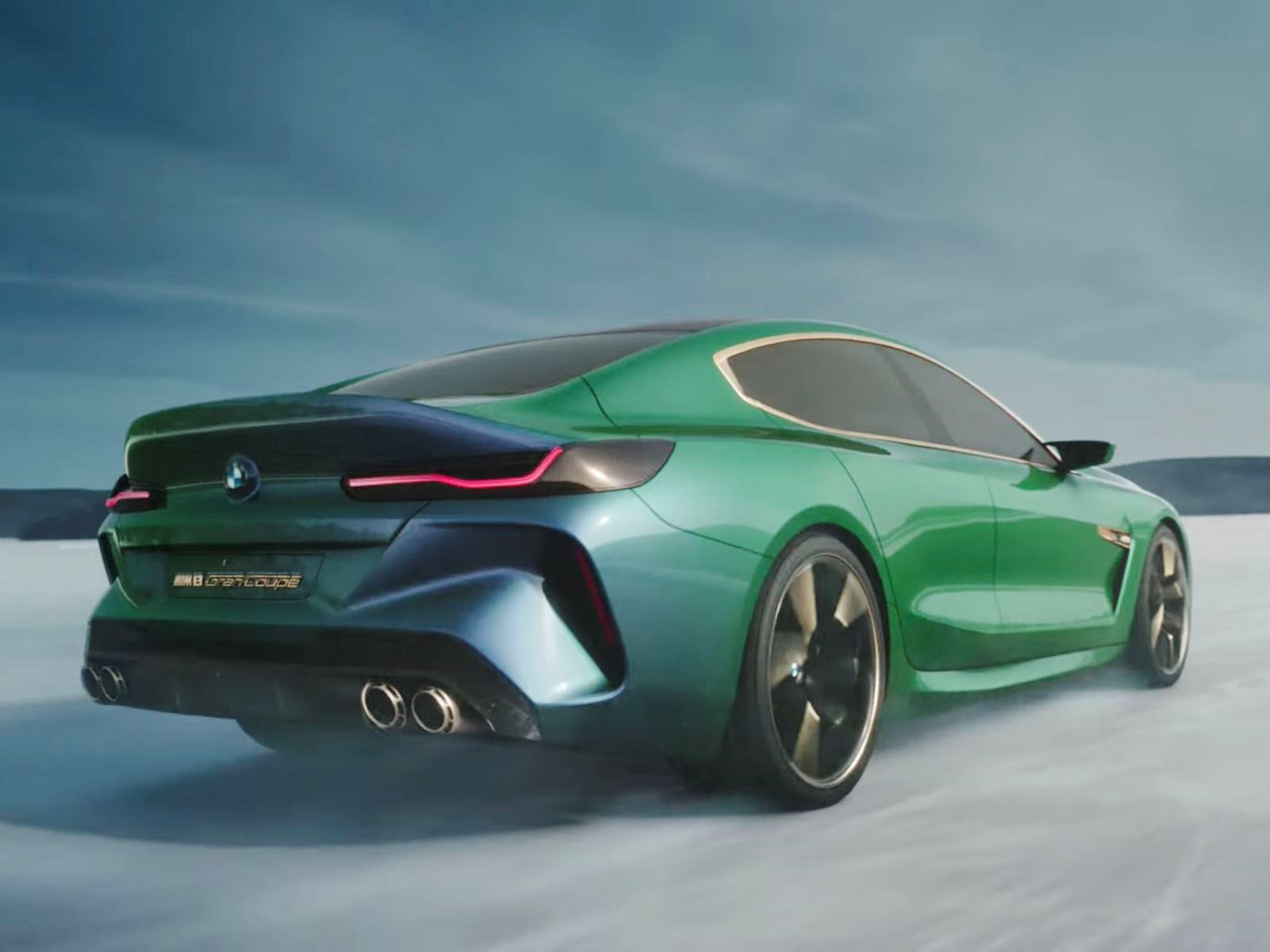 Bmw M8 Gran Coupe Concept Looks Even Better In Action Carbuzz