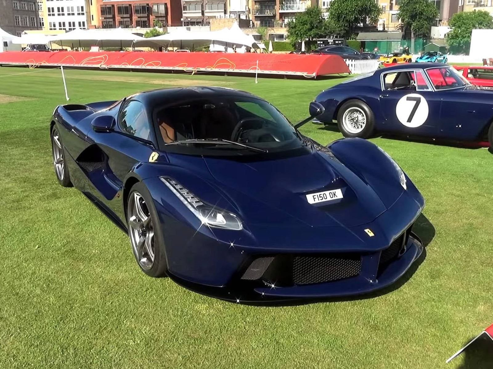 Pink Floyd Drummer Shows Off His Unique Blue Laferrari In London Carbuzz