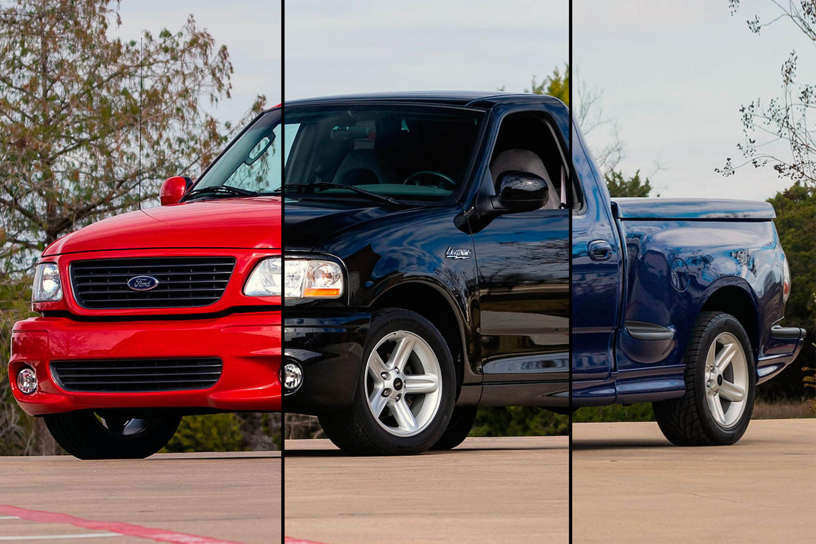 Red Black Or Blue Take Your Pick Of Ford Svt Lightnings Carbuzz