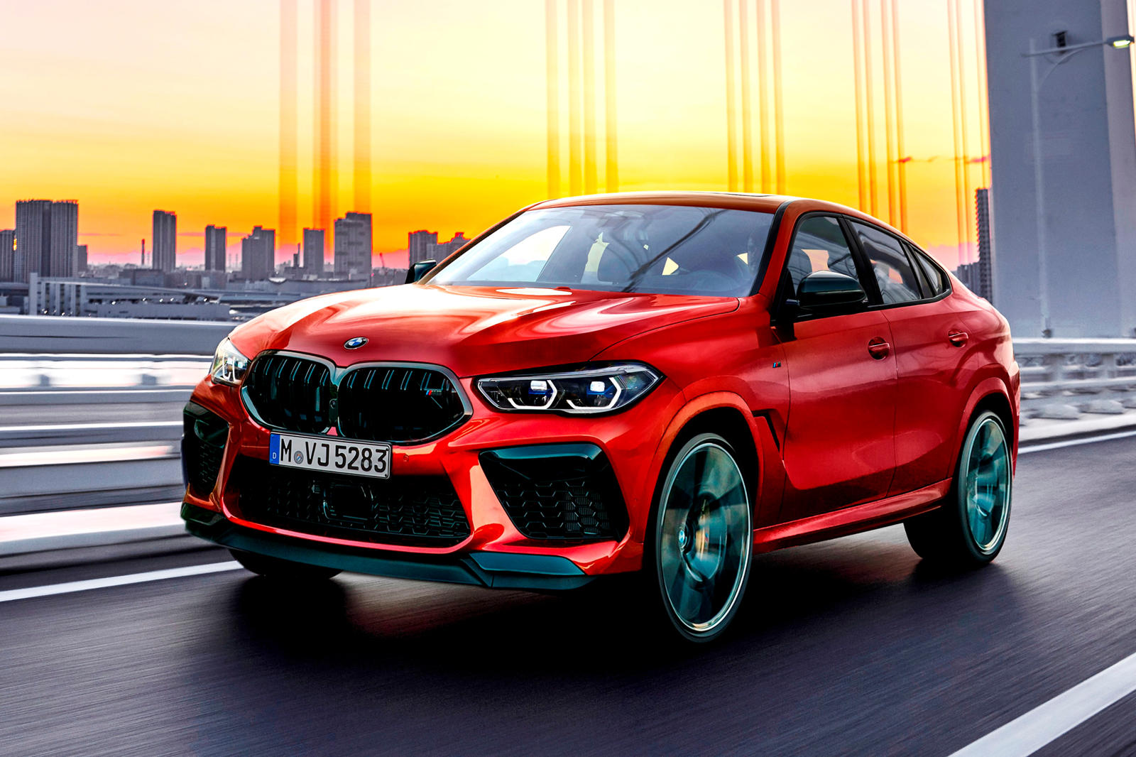 Red X6 M Competition 2020 Bmw X6