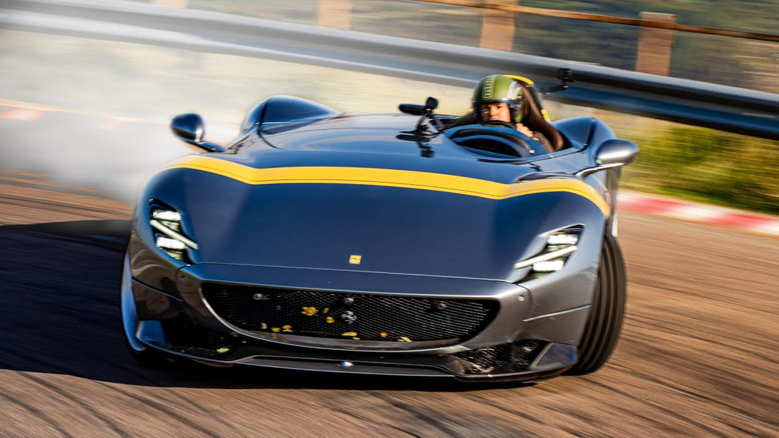 This Is How The Ferrari Monza Sp1 Should Be Driven Carbuzz