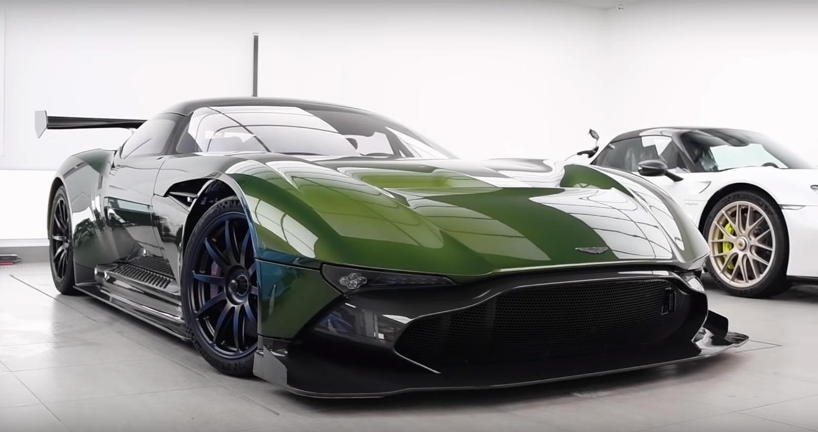 Watch A Rare Aston Martin Vulcan Get Bespoke Paint Job Carbuzz