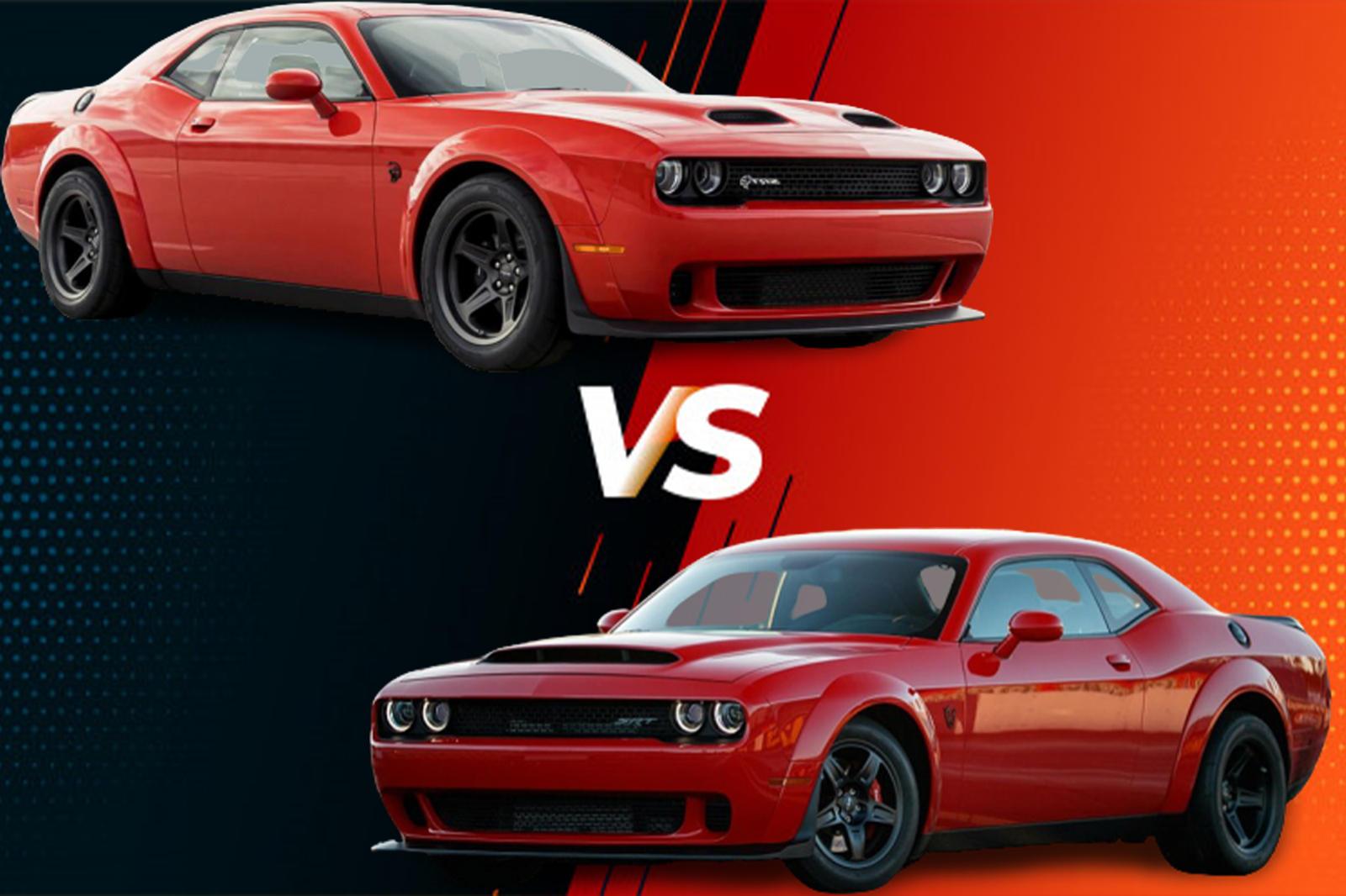 Dodge Challenger Super Stock Vs Challenger Demon A Muscle Car Faceoff Carbuzz