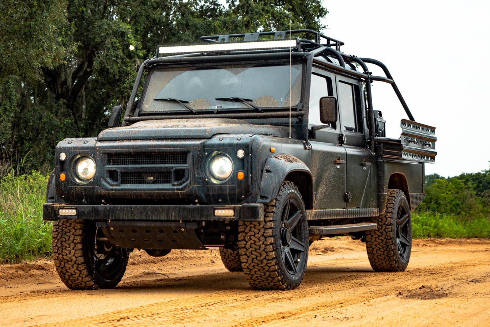 Epic Land Rover Defender 130 Is All Black With Ls3 Power Carbuzz