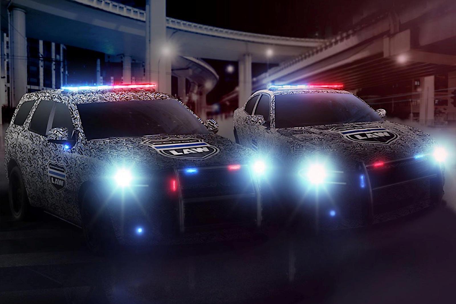 dodge police durango charger pursuit vehicles teased carbuzz