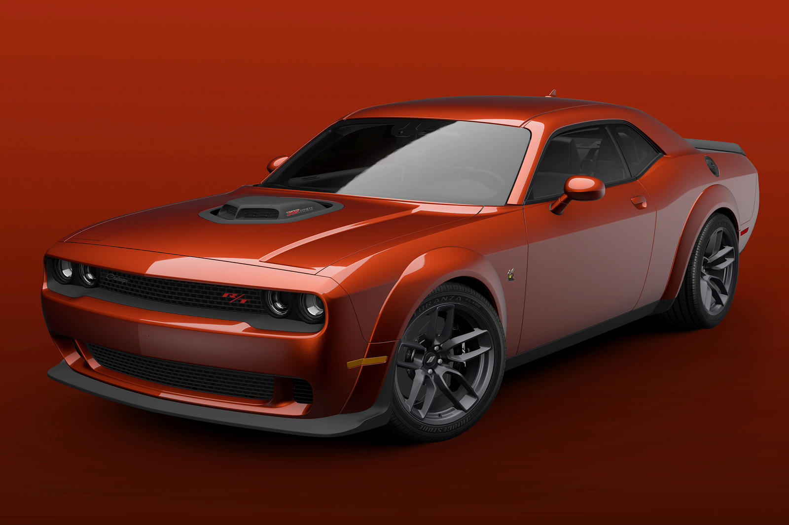 dodge challenger 2021 scat pack widebody gets shaker treatment carbuzz