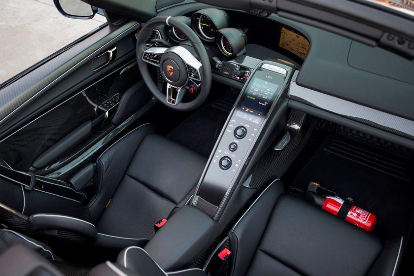 Porsche 918 Spyder Interior Photos | CarBuzz  Porsche 918 Spyder 2015 Interior