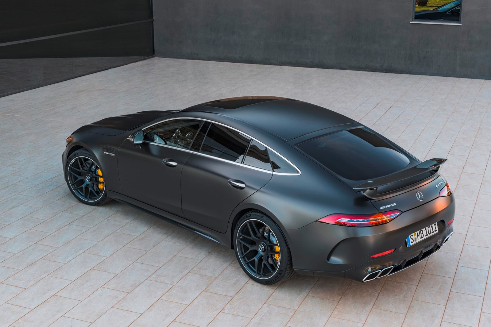 2019-2020 Mercedes-AMG GT 63 Rear Angle View