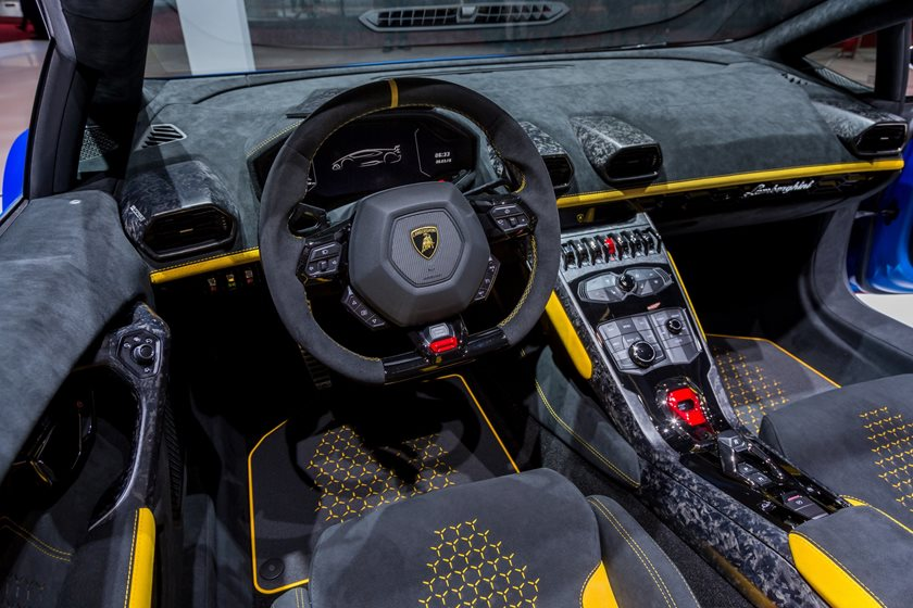 2019 Lamborghini Huracan Performante Spyder Interior Photos