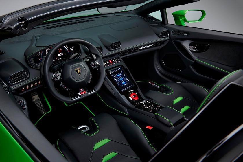 Lamborghini Huracan Evo Spyder Interior Photos | CarBuzz