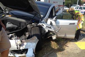 Man Walks Away from Horror Crash, Proves Model S is Safest Car Ever