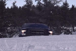 F-150 Snooning in Deep Michigan Snow
