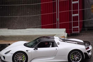 Awesome 918 Spyder Spied Entering Geneva Show